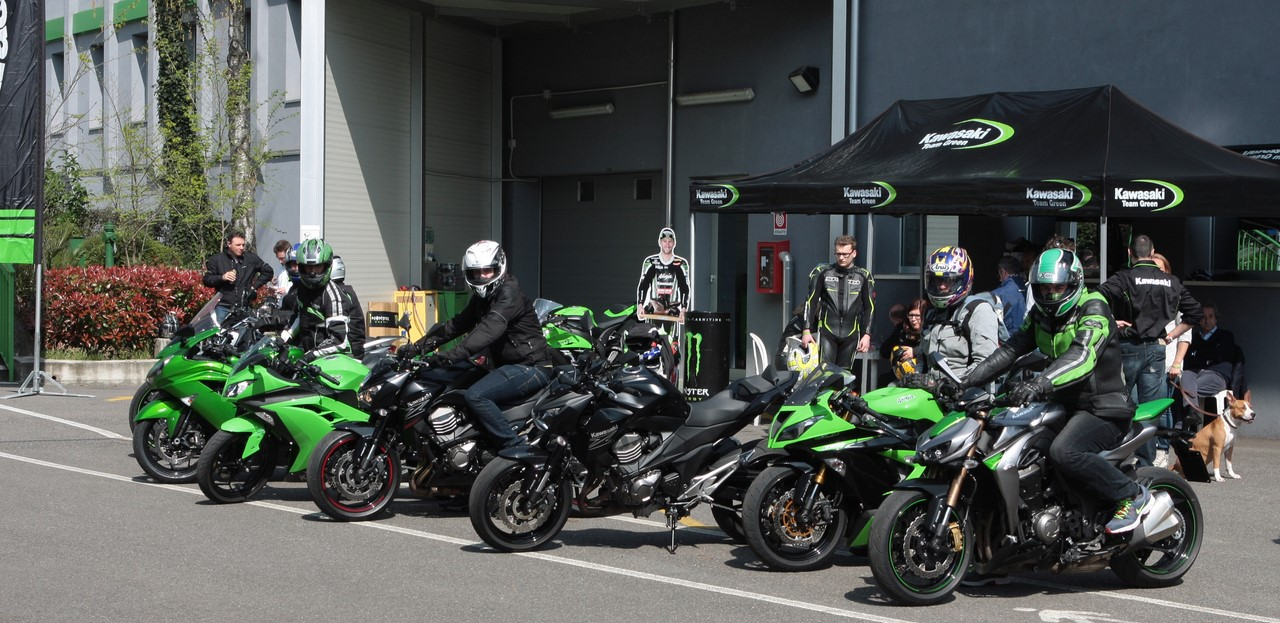 Kawasaki demo ride Imola