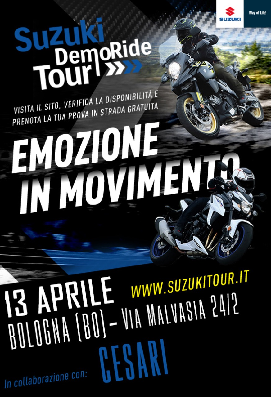 Suzuki DemoRide Tour 2019 - Katana in prova