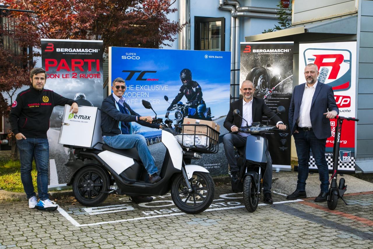 Vmoto Soco Italy e Bergamaschi - partnership