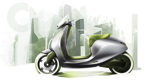 Smart, scooter elettrico al Salone Internazionale dell'Automobile di Parigi