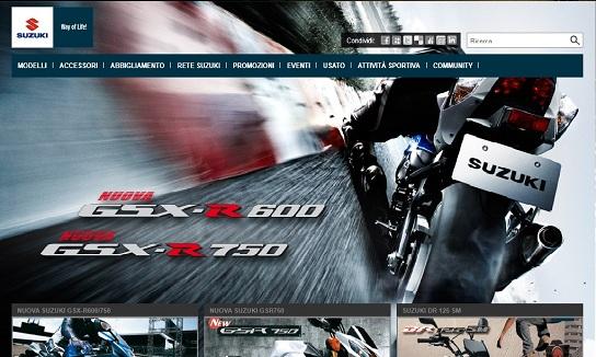Suzuki, nuovo sito internet ufficiale per la casa giapponese
