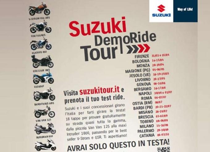 Prosegue il Suzuki Demo Ride Tour 2012
