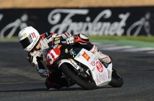 Matteo Ferrari vince con Honda in Moto3