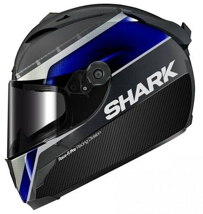 "Shark-Helmets e il Race-R Pro Carbon ""Race Blu Replica"" 2013"
