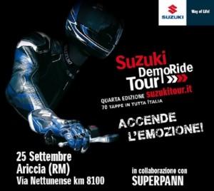 Suzuki DemoRide Tour 2015: si chiude ad Ariccia ed Anzio