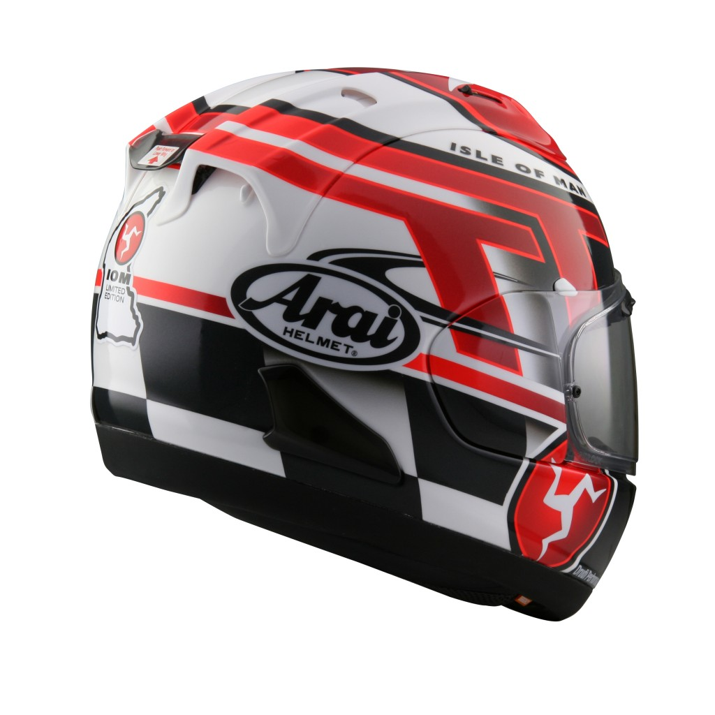 arai rx 7v iomtt 2016 una limited edition per il tourist trophy 2016 video. Black Bedroom Furniture Sets. Home Design Ideas