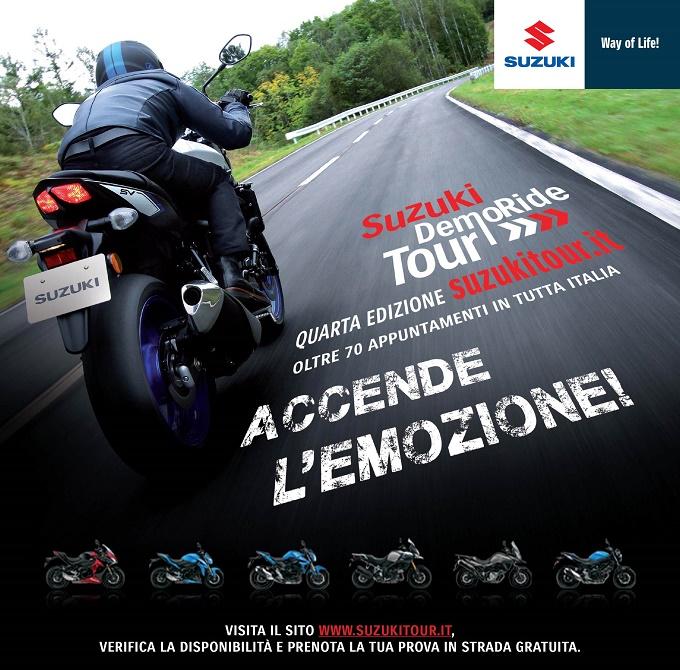 Suzuki DemoRide Tour 2016: anche quest'anno si riaccende la passione