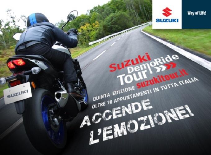 Suzuki DemoRide Tour 2016: sabato 30 aprile e domenica 1 maggio a Brescia, Roma, Gorizia e Latina