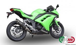 Kawasaki Ninja 300: più performance con il nuovo scarico Exan X-BLACK Ovale
