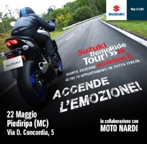 Suzuki DemoRide Tour 2016 arriva a a Rimini e nelle province di Treviso, Macerata e Trento