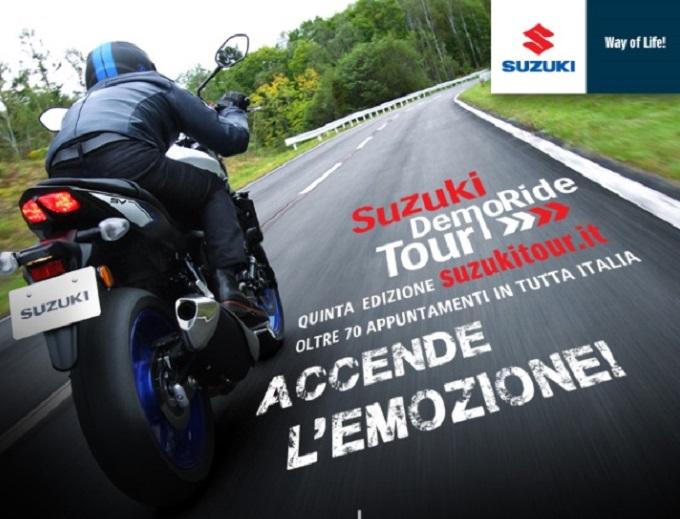 Suzuki DemoRide Tour 2016 a Bergamo, Biella, Piacenza, Vercelli e Livorno