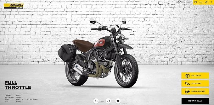Ducati Scrambler, è online il nuovo configuratore