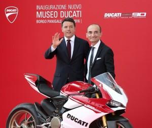 Museo Ducati, il Presidente del Consiglio Renzi inaugura la nuova esposizione permanente
