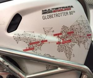 """Ducati Globetrotter 90°, la """"fiaccola"""" e la Multistrada 1200 Enduro rientrano in Europa"""