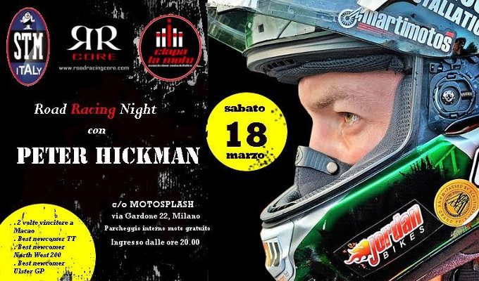 Road Racing Night: Ciapa La Moto e Peter Hickman insieme il 18 marzo