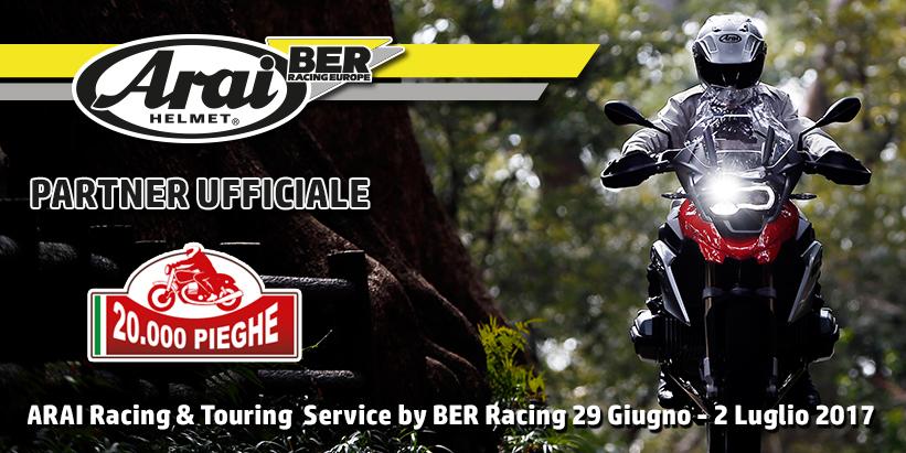 "20.000 Pieghe – ARAI e BER Racing ""Partner Ufficiali"""