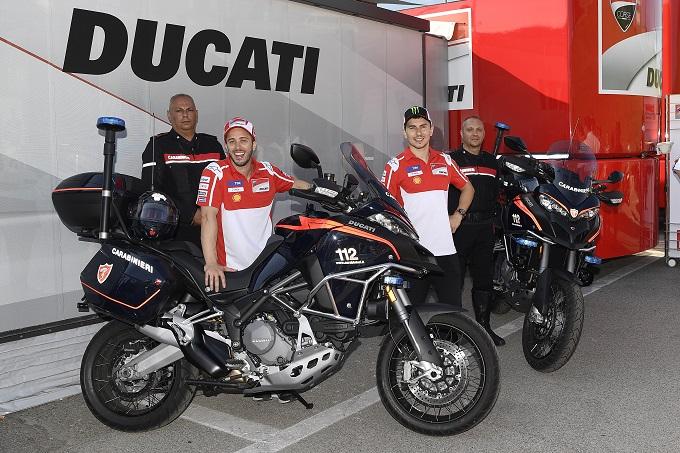Al GP d'Italia del Mugello le Ducati dell'arma dei Carabinieri