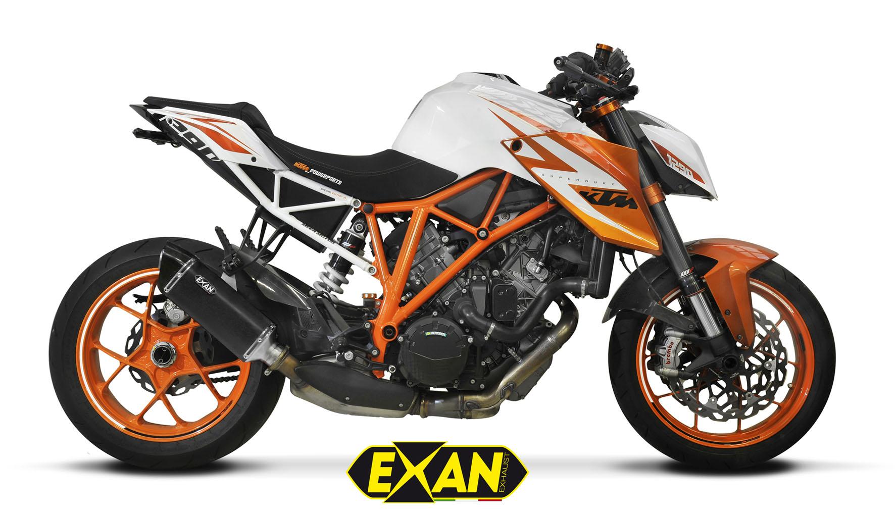 EXAN - KTM SUPERDUKE 1290R-X-Black Ovale (Inox-Sat. nero)