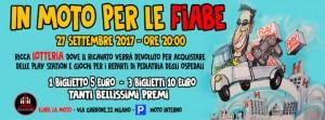 """Ciapa la Moto organizza la lotteria per """"In moto per le fiabe"""""""