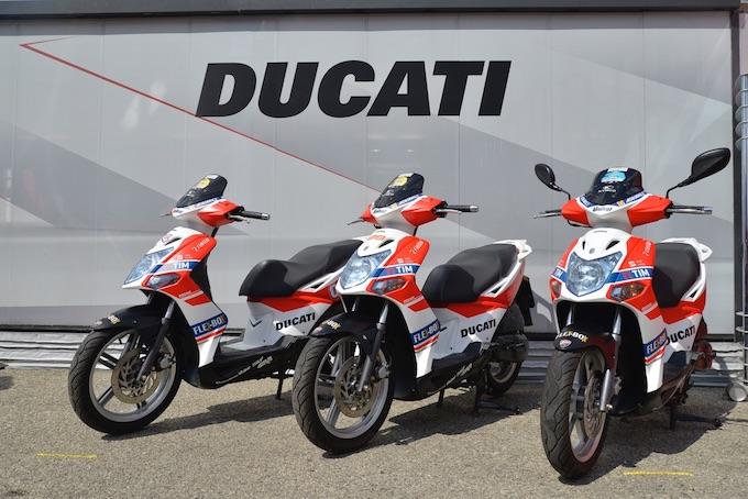 Ducati sfreccia nei paddock mondiali con Kymco Agility R16 125