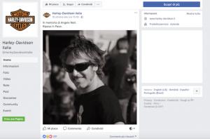 Harley Davidson Italia omaggia Angelo Neri