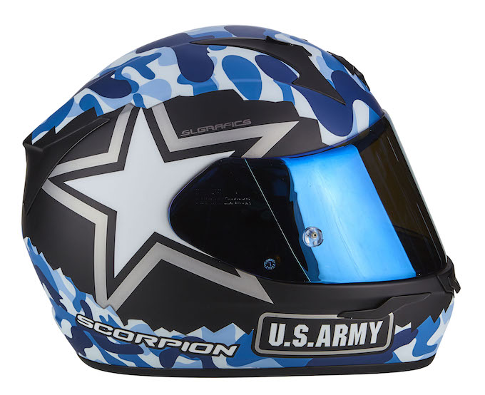 Scorpion-EXO-390 ARMY Matt Blue-Silver - 4