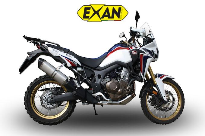 Exan e Honda Africa Twin portano l'avventura in città