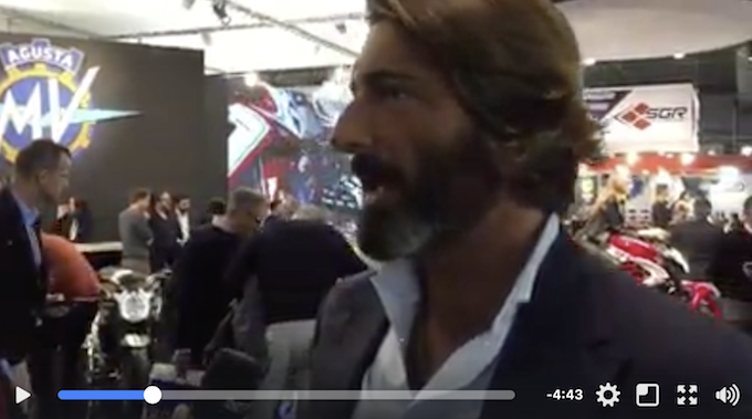 """MV Agusta, Castiglioni: """"Siamo tornati alle origini del marchio"""" [VIDEO]"""