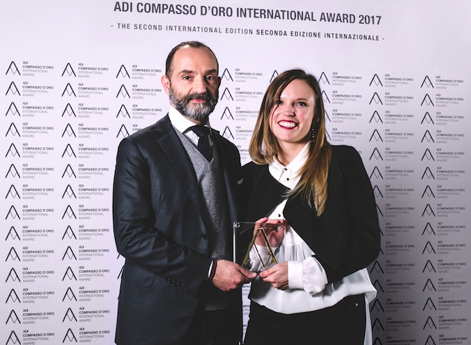 "Dainese vince il ""Compasso d'Oro International Award 2017″"