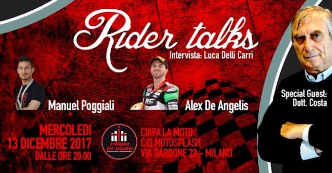 Poggiali, De Angelis e il Dottor Costa si raccontano a Rider Talks