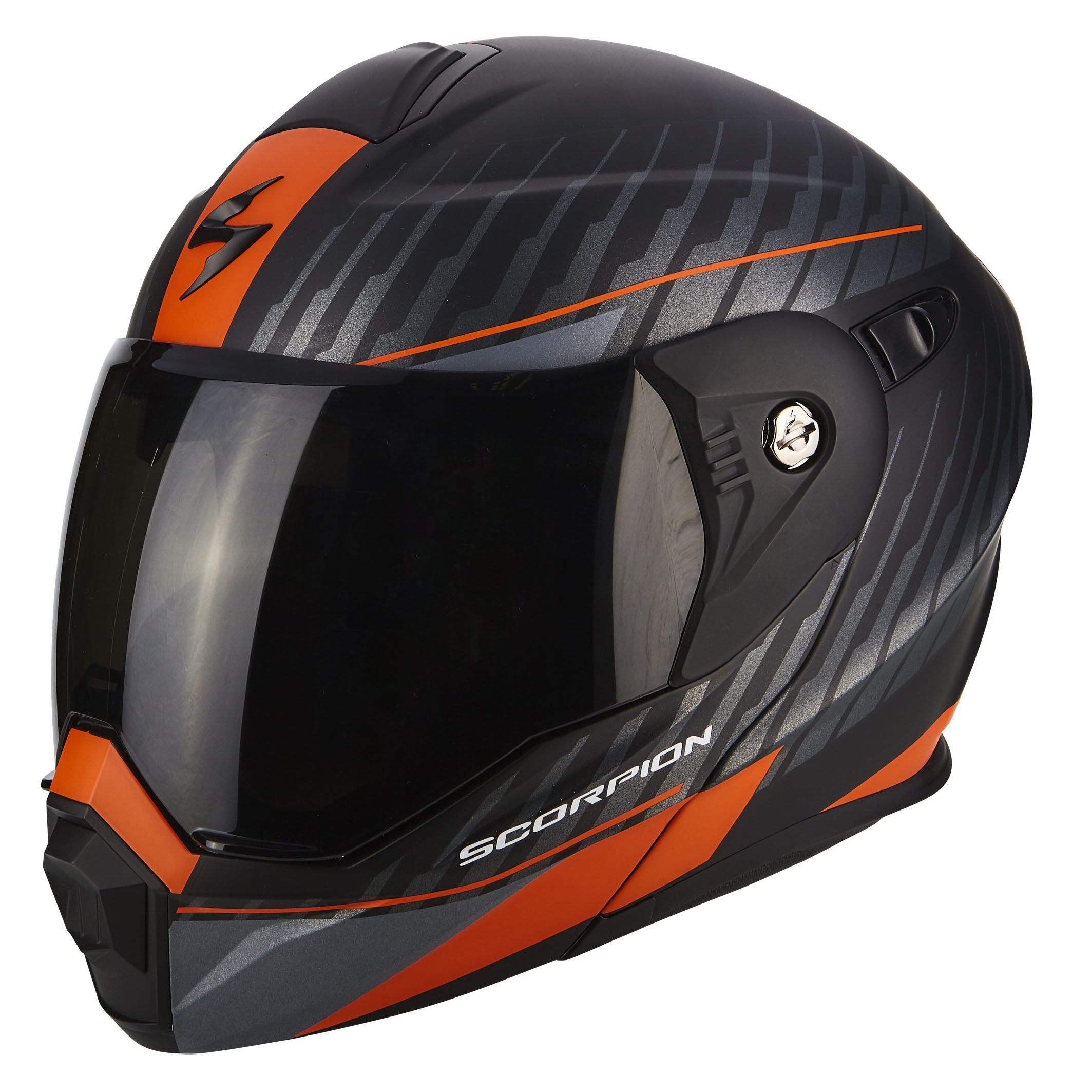 ADX-1 DUAL Matt Black-Silver Orange - 5