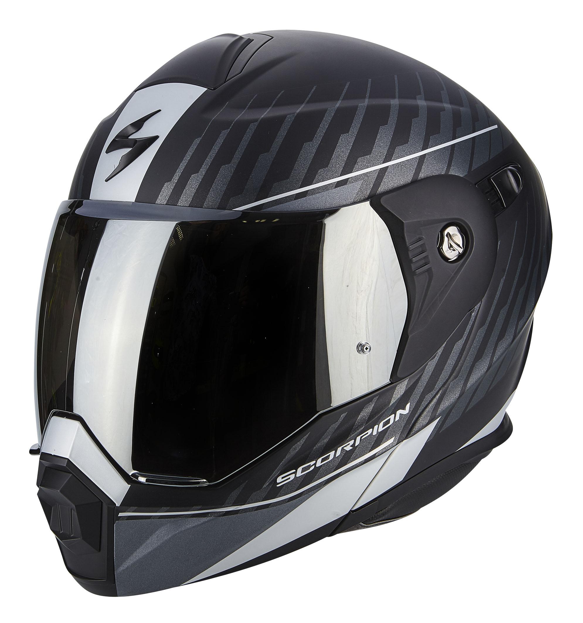 ADX-1 DUAL Matt Black-Silver-no visor (1)