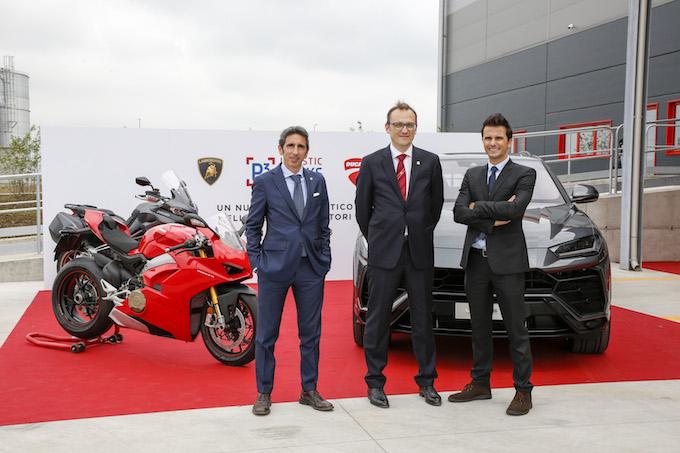 Ducati e Lamborghini: inaugurato il nuovo hub logistico