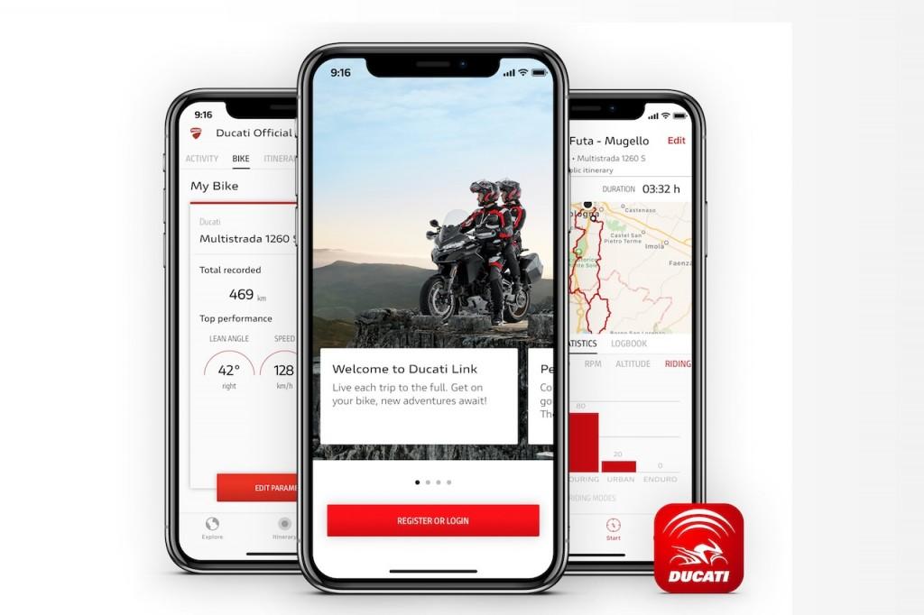 Ducati Link App: lo smartphone diventa parte della moto