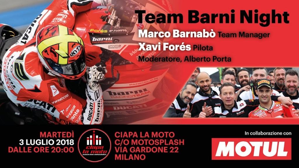 Ciapa La Moto organizza la Team Barni Night