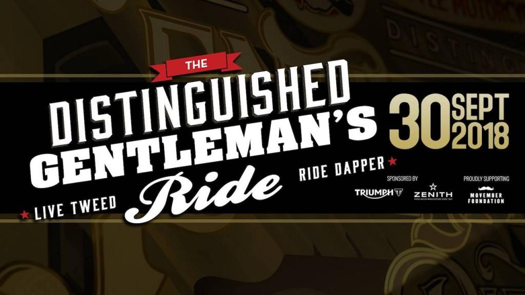 Triumph è main sponsor della Distinguished Gentleman's Ride 2018