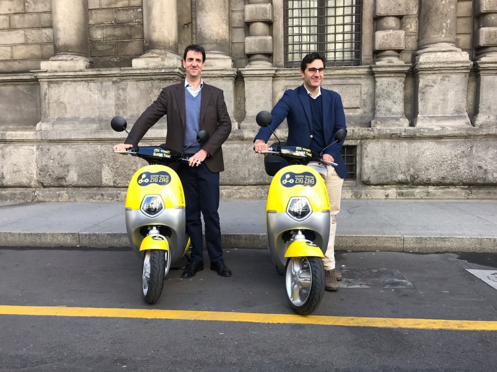 Zig Zag Scooter Sharing presenta la flotta elettrica per il Comune di Milano
