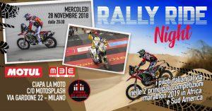 Ciapa la Moto: la Rally Ride Night per sognare la Dakar