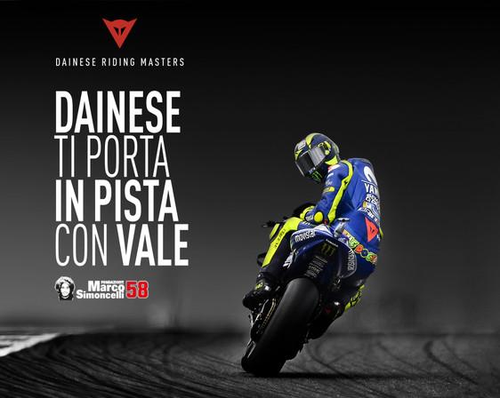Dainese: arriva la Riding Master e la possibilità di scendere in pista con Valentino Rossi
