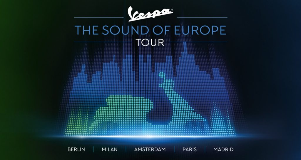 "Vespa, ""The Sound of Europe Tour"": un vivace fine settimana a Milano"