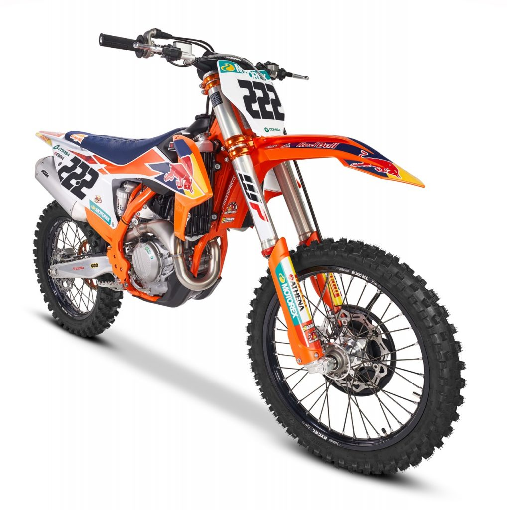 KTM 250 SX-F Prado MY2020 e KTM 450 SX-F Cairoli MY2020 - foto