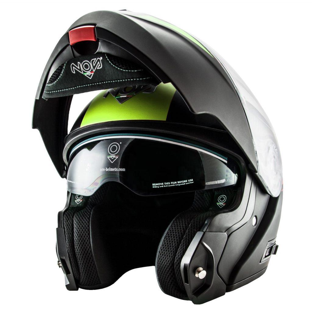 NOS NS-8 Triton Yellow Matt: un casco modulare per gli appassionati di viaggi in moto