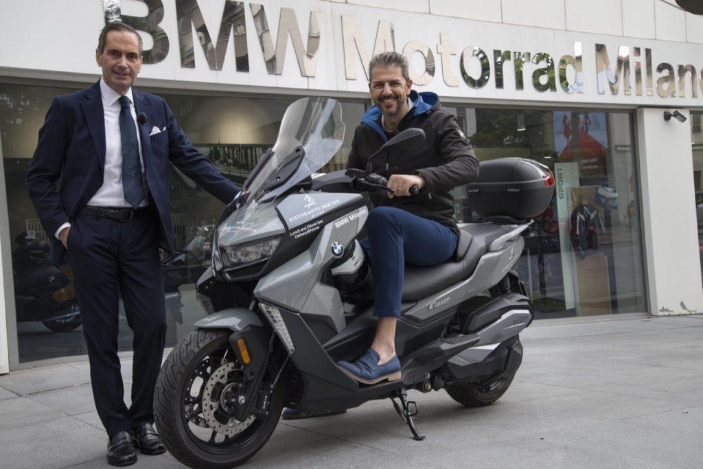 BMW Milano con Andrea Berton per il servizio di consegna a domicilio dei Box lunch and dinner