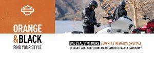 Harley-Davidson Orange and Black: iniziative speciali legate all'abbigliamento dal 23 al 31 ottobre