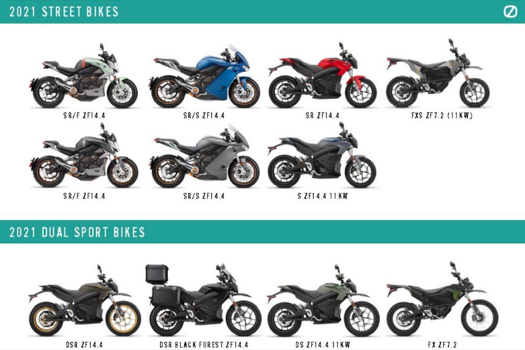Zero Motorcycles: presentata la gamma di modelli 2021