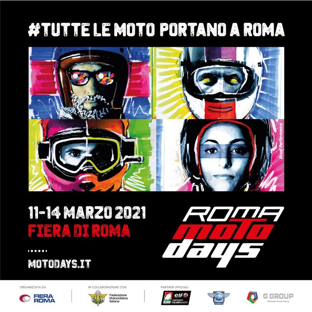 Roma Motodays: confermata l'edizione del 2021 tra i giorni 11 e 14 marzo