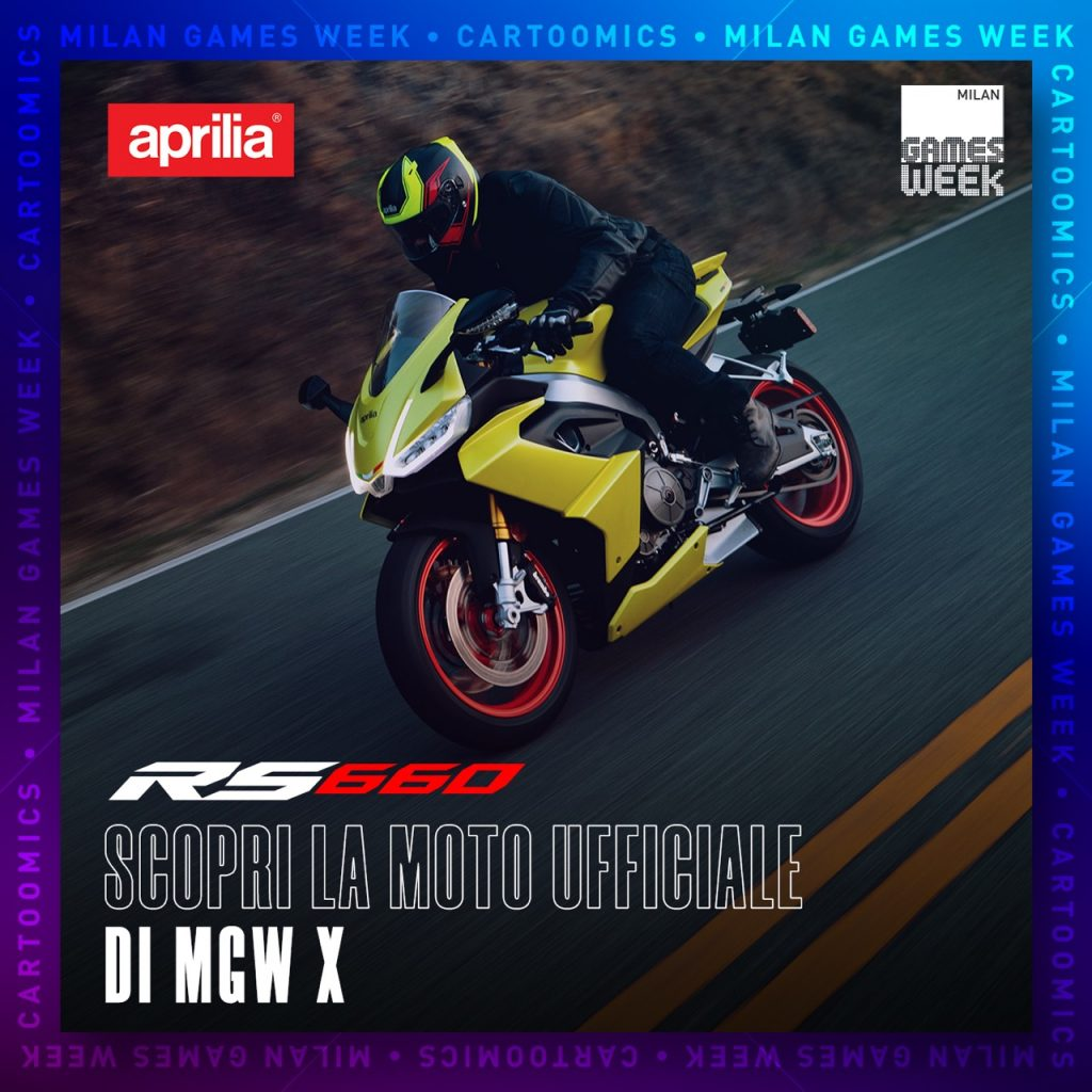 Aprilia RS 660: la nuova sportiva è moto ufficiale dell'evento Milan Games Week-X