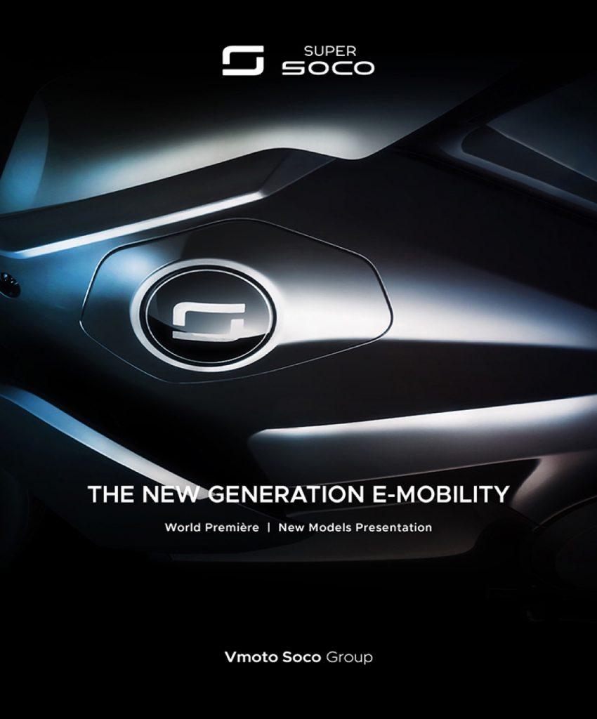 Vmoto Soco Group: due teaser verso della presentazione della nuova generazione 2021
