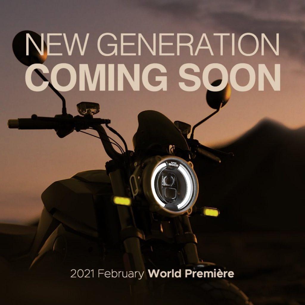 Vmoto Soco Group: un settimo teaser in vista della World Première 2021 di febbraio