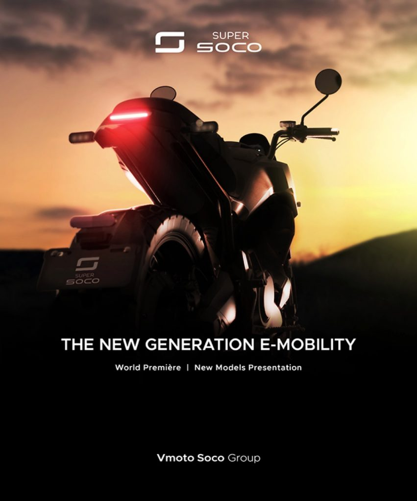 Vmoto Soco Group: un quinto teaser verso la World Première 2021